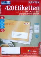 Easy Computing 420 Etiketten, 99,1 x 38,1 mm voor universeel gebruik (Papier)